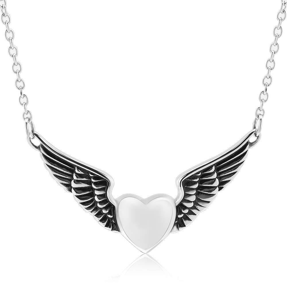 memorial jewelry Foreverlove Angel Wings Pendant Memorial Ashes Urn Pendant Cremation Ashes Urn Jewelry