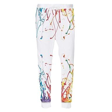 ... Imprimir Pantalones de Pintura Colorida 3D Pantalones de Hip Hop Pantalones Largos de chándal Casual Colourful Paint XXXL: Amazon.es: Ropa y accesorios