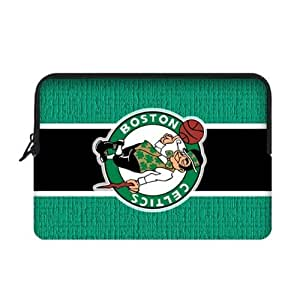 13 Inch Two Sides Macbook Air Sleeve with Boston Celtics Team-by Allthingsbasketball
