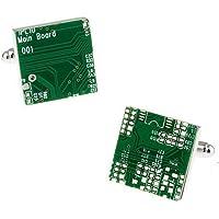 IPOTCH Cufflinks Novelty Men Green Circuit Cuff Links Circuit Board Shape Cufflinks