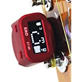 Eno ET-09 Rechargeable headstock Guitar tuner Clip on (red)