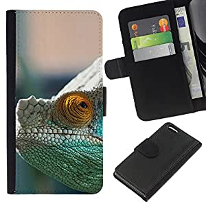YiPhone /// Tirón de la caja Cartera de cuero con ranuras para tarjetas - CAMALEÓN MISTERIOSO - Apple Iphone 5C