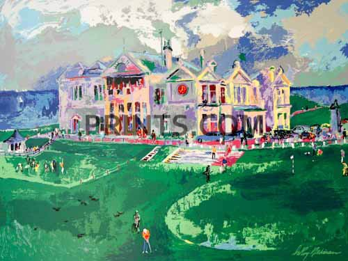 LeRoy Neiman - Clubhouse at Old St. Andrews Open Edition Serigraph on Paper