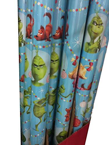 Hallmark's Dr. Seuss Grinch Christmas Gift Wrap 50 Sq. Ft.