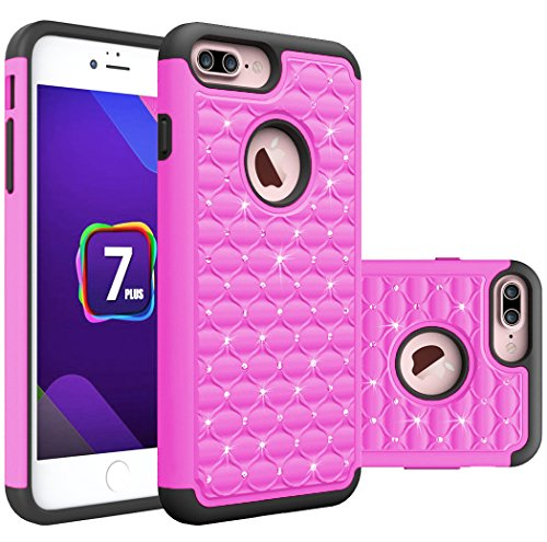 iPhone 7 Plus / iPhone 8 Plus Case, [Blink Series] Sparkle Diamond Shockproof hard polycarbonate outer shell and soft inner TPU Dual Layer Hybrid Armor Defender Case