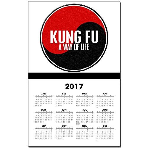 CafePress - KUNG FU Way Of Life Yin Yang - 2017 Calendar Print, One-Page Calendar Poster, Glossy 11
