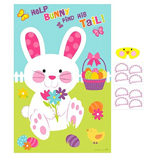 Amscan Pin-The-Tail On The Bunny Game | Easter Favor