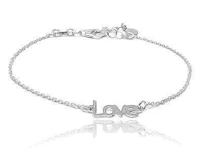 Bracelet Love argent de loi by Wanda Argent