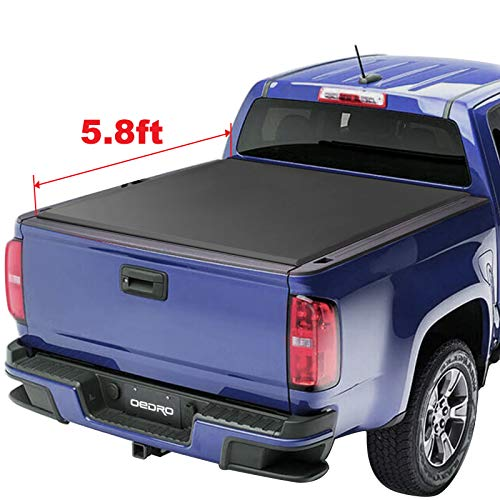 Bed Tonneau Cover Compatible with 2014-2019 Chevy Silverado/GMC Sierra 1500 (2019 Only Fits Classic or Legendary)| Fleetside 5.8' Bed | for Models Without Utility Track System ()