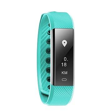 HRT® ID115HR Pulsera de ritmo cardiaco Bluetooth Sport Pulsador de Fitness Contador de pasos Monitor de actividad Reloj despertador Wristband , green: ...