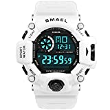 Digital Watch, Men\s Sports Watch Military Watch with Waterproof Function and Alarm Clock