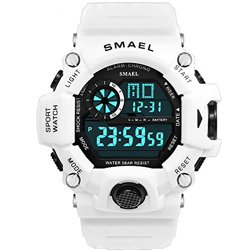 (Digital Watch, Men's Sports Watch Military Watch with Waterproof Function and Alarm)