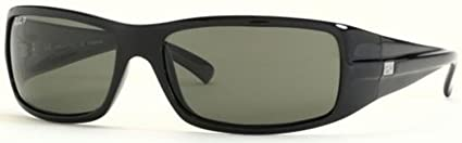ef97689a40 Ray Ban RB4057 Sunglasses - Glossy Black-Polarized w  Grey Polarized 61mm