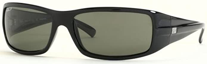 2811e6d9cf Ray-Ban Men s Gradient Highstreet RB4057-601-61 Black Rectangle Sunglasses   Ray-Ban  Amazon.ca  Clothing   Accessories