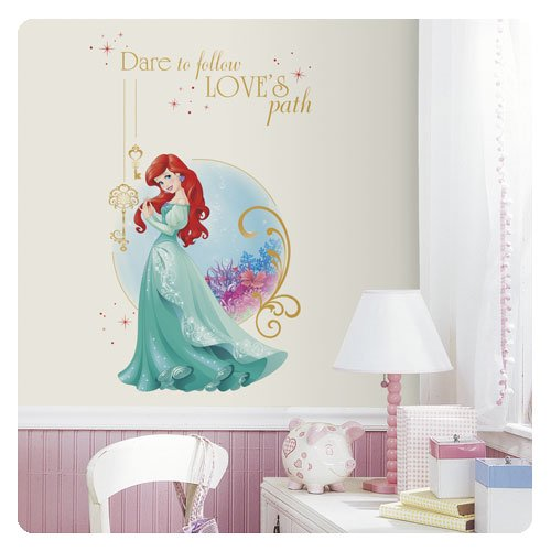 RoomMates RMK3035TB Disney Princess Ariel Peel & Stick Giant Wall Graphic, 2 Count
