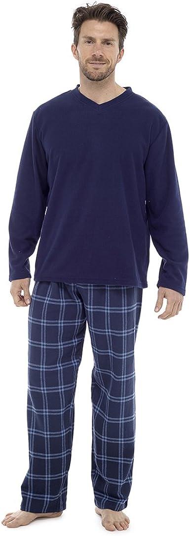 Clothing Unit Conjunto de pijama de franela de algodón cepillado para hombre