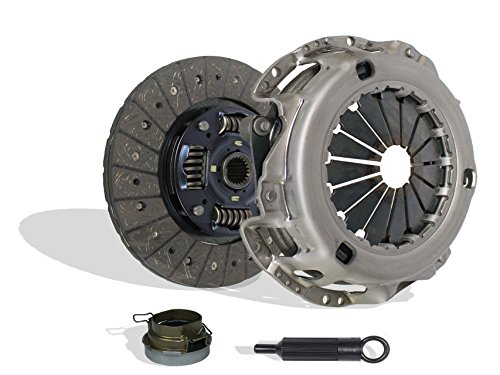 Clutch Kit Set Works With Toyota Previa Tacoma DX LE Mini Passenger Van DLX Standard Extended Cab Pickup 1991-2004 2.4L l4 GAS DOHC Naturally Aspirated (Vin A 2Tzfe; 2Wd; 4Wd) ()