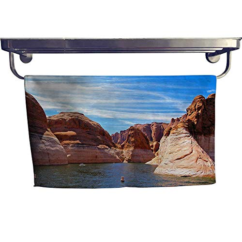Leigh home Dry Fast Towel,The Beautiful Lake of Powell,Gym Swim Hotel Use W 27.5