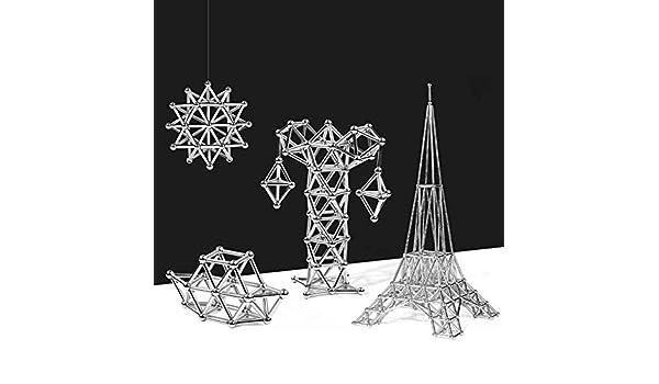 DAXINYANG 148pcs Bloques de construcci/ón magn/éticos Juguetes para ni/ños Bolas de Palo magn/ético Adultos Alivio estr/és Entrenamiento Cerebral