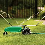 Patio Joy Lawn Tractor Sprinkler Self Propelled System Traveling Sprinklers For Yard Garden Outdoor Water Equipment Rotary Spray Automatic Shut-Off