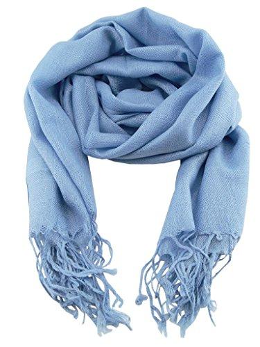 Color cielo Pashmina Scarf Accesorio Top Hombre s Trend Azul q0nBwF