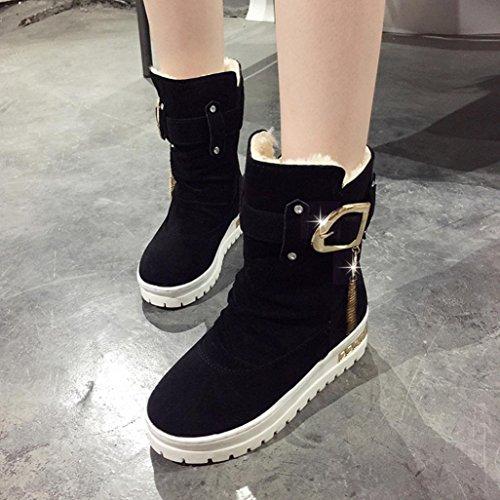 Schwarz Frauen Casual Schnee Rutschfeste Stiefeletten Winter Quaste Schuhe Warm Halten z7UnqPzxr