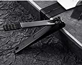 Nail clippers set Black Matte Stainless Steel