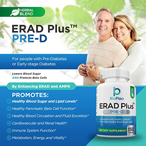 ERAD Plus Pre-D for Healthy Pancreatic Beta Cell Function – A Diabetes Support Supplement to Promote Healthy Pancreatic Beta Cell Function and Lower Blood Sugar Naturally