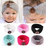 6PCS Baby Girl Headbands With Bows Perfect for Newborns/Toddlers Cute Knotted Bow Headwrap (6PCS)