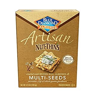 Blue Diamond Almond Cracker Crisps, Multi-Seed, 4.25 oz