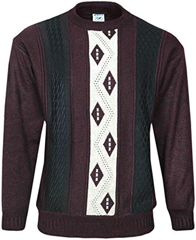 Męski okrągły dekolt sweter z długim rękawem longsleeve sweter: Odzież