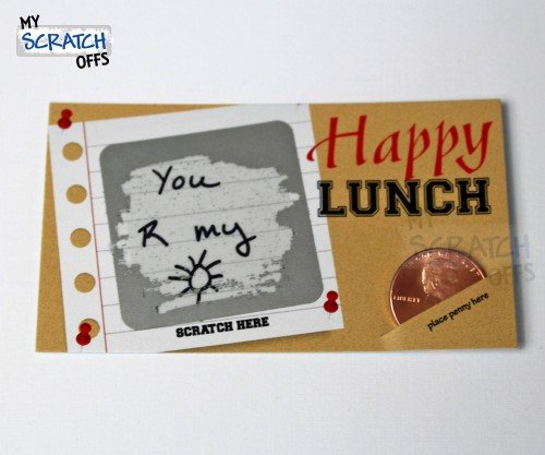 Happy Lunch Lunchbox Notes Make Your Own Scratch Off Cards DIY Corkboard Scratch-Off Mini Cards Kit (25 Cards)