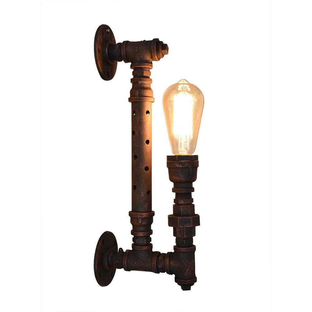 MJZH.AI Vintage Steampunk Wandlampe Industrielle Steampunk Wandleuchte Rohr Lampe Retro Licht Alte Fabrik Wandleuchte
