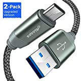 USB 3.0 Type C Cable, [3.3 FT/2 Packs] Double-braided Armor Nylon Type-C Cable, Durable & Fast Charging USB C Cord for Galaxy S9, Note 8, S8, S8 Plus, Macbook, LG V20 G5 G6 and More by Ainope