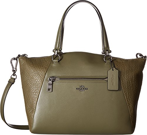 COACH Women's Mixed Leather Prairie Satchel Dk/Surplus Handbag by Coach