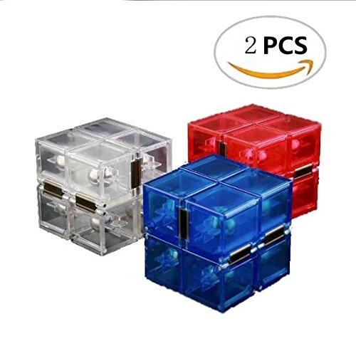 Unendlicher Würfel Klares Plastik mit Stahlluppe, 2 PCS, Magischer Würfel Cube Puzzle Cube Hand Spiel für Kinder für Erwachsener Kreativ Lustig Lernspielzeug Stern Infinity Cube Zauberwürfel Jvxiangge