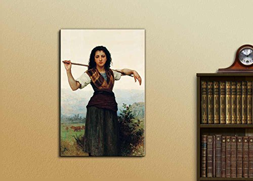 The Little Shepherdess by William Adolphe Bouguereau Print Famous Painting Reproduction
