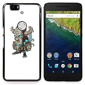 /Skull Market/ - Teal Green Monster Frankenstein Monster For Huawei Nexus 6P - Mano cubierta de la caja pintada de encargo de lujo -