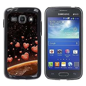 TopCaseStore / la caja del caucho duro de la cubierta de protección de la piel - Love Space Hearts - Samsung Galaxy Ace 3 GT-S7270 GT-S7275 GT-S7272