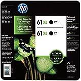 HP 61XL BLACK INK CARTRIDGE TWIN PACK