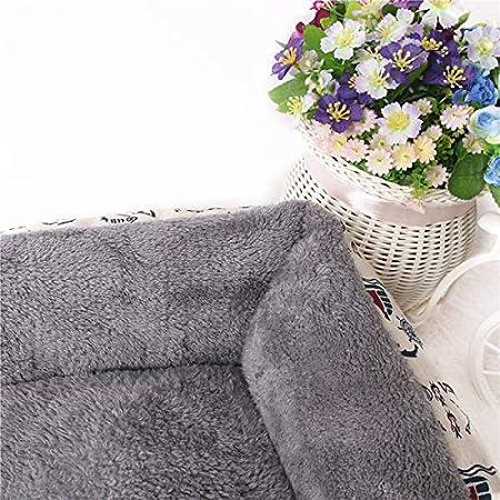 Joyfeel buy caldo nido per animali domestici Cuccia per cani o gatti letto e divano per animali domestici velluto artico grigio rettangolare