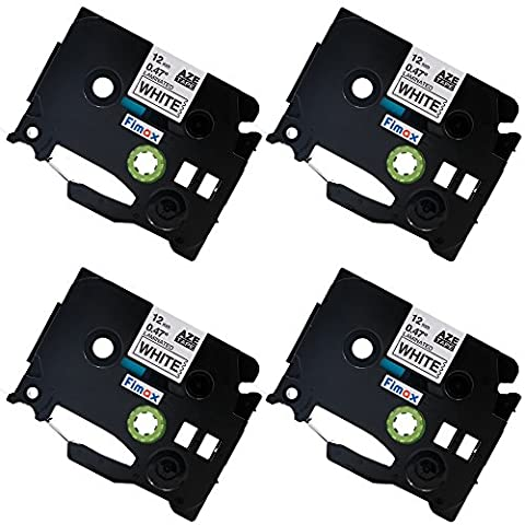 Fimax 4 pack Compatible Brother TZe-231 TZe231 P-touch Label Tape 12mm 1/2 Inches (0.47