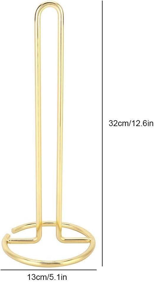 KEYREN Rollenhalter Seidenpapier Handtuchhalter St/änder Metall Stehend Einfach Organizer Gold