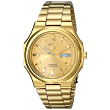 Seiko Men's SNKK52 Seiko 5 Automatic Gold-Tone Stainless-Steel Bracelet Watch