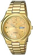 Seiko Men's SNKK52 Seiko 5 Automatic Gold-Tone Stainless Steel Bracelet Watch
