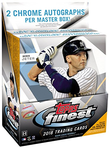 2018 Topps Finest MLB Baseball HOBBY box (12 pk, TWO Autograph cards per box)