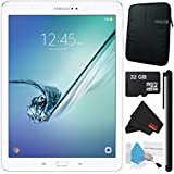 Samsung 32GB Galaxy Tab S2 9.7 Wi-Fi Tablet (White) SM-T813NZWEXAR + Universal Stylus for Tablets + Tablet Neoprene Sleeve 10.1 Case (Black) + 32GB Class 10 Micro SD Memory Card Bundle