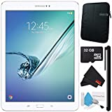 Samsung 32GB Galaxy Tab S2 9.7'' Wi-Fi Tablet (White) SM-T813NZWEXAR + Universal Stylus for Tablets + Tablet Neoprene Sleeve 10.1'' Case (Black) + 32GB Class 10 Micro SD Memory Card Bundle