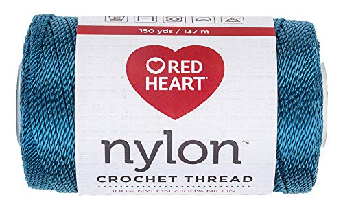 RED HEART 138.0053 Nylon Crochet Thread, Teal