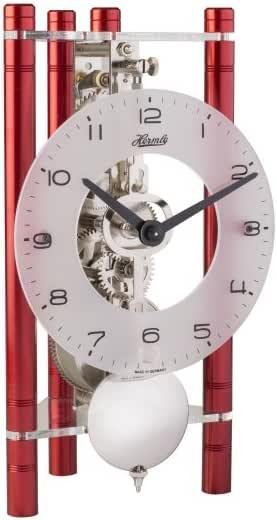 Hermle 23025360721 Lakin Triangular reloj de mesa – rojo con árabe ...
